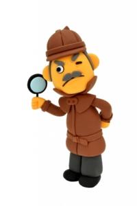 探偵のクレイアート