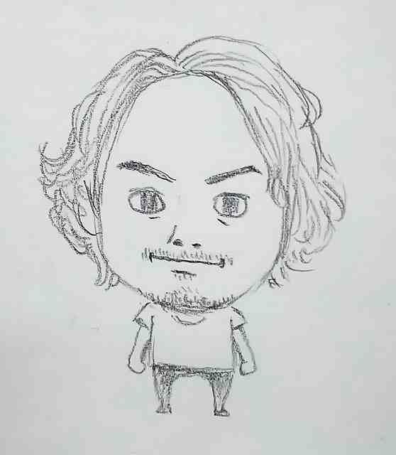 2.似顔絵のラフ画