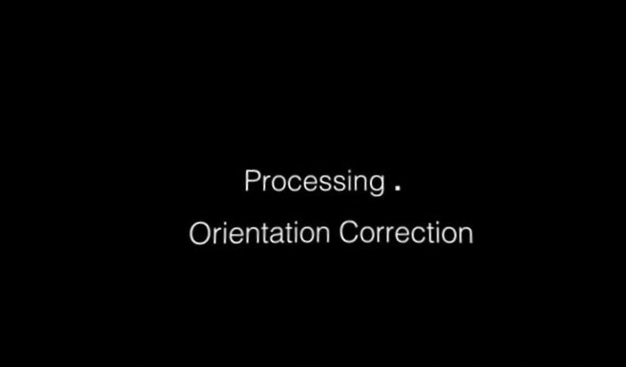 processing orientation correction